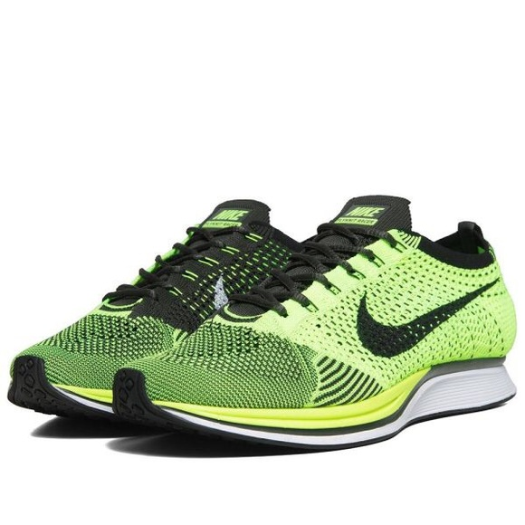 Nike Other - Nike Men's Flyknit Racer 'Volt'
